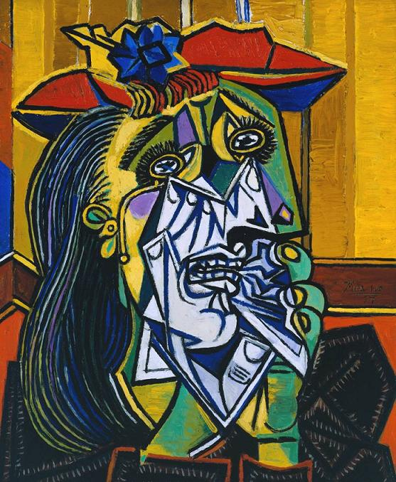Weeping Woman 1937 Pablo Picasso 1881-1973 Accepted by HM Government in lieu of tax with additional payment (Grant-in-Aid) made with assistance from the National Heritage Memorial Fund, the Art Fund and the Friends of the Tate Gallery 1987 http://www.tate.org.uk/art/work/T05010